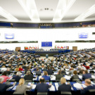 General view of plenary chamber during a plenary session - Zooming